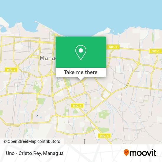 Uno - Cristo Rey map