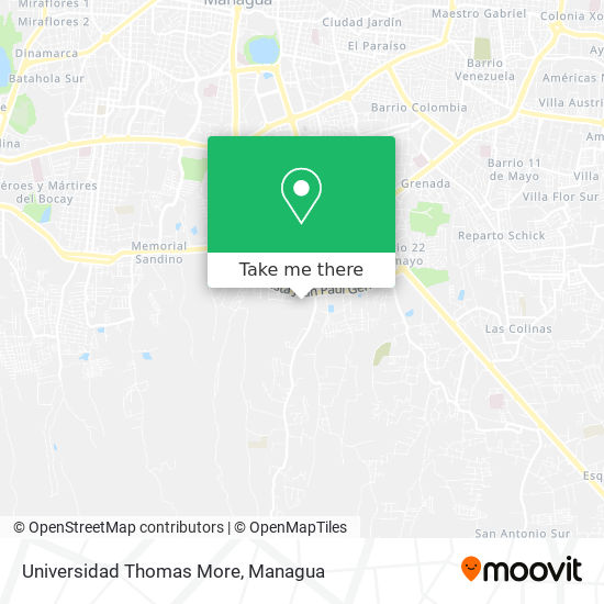 Universidad Thomas More map
