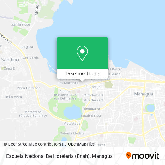 Escuela Nacional De Hoteleria (Enah) map