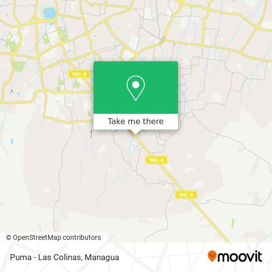 Puma  - Las Colinas map