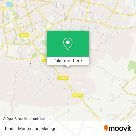 Kinder Montessori map