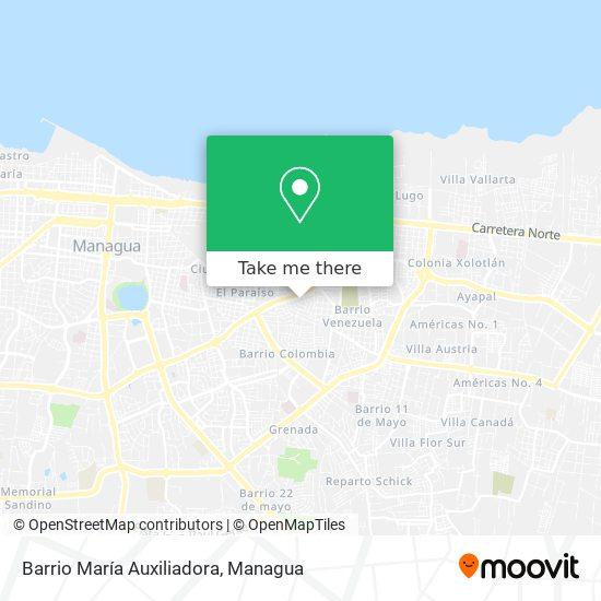 Barrio María Auxiliadora map