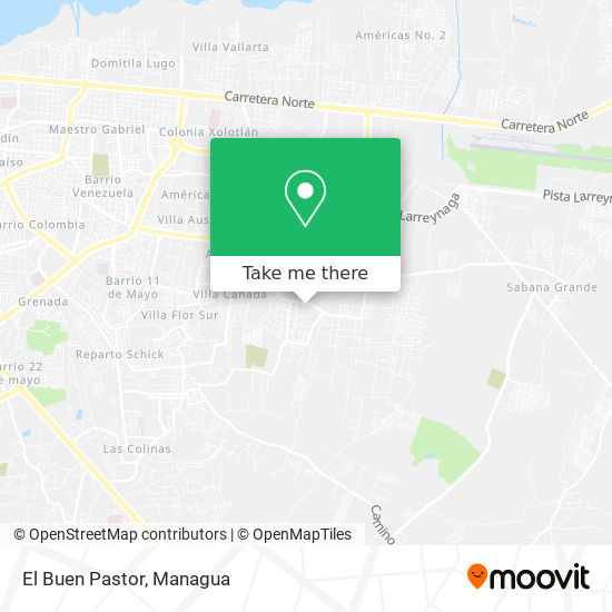 El Buen Pastor map