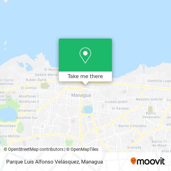 Parque Luis Alfonso Velásquez map