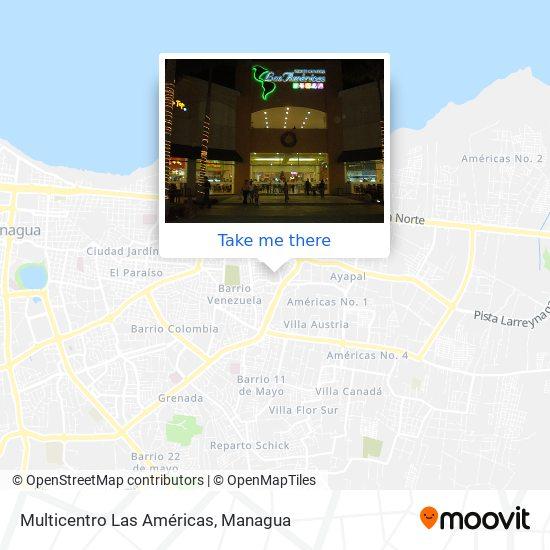 Multicentro Las Americas map