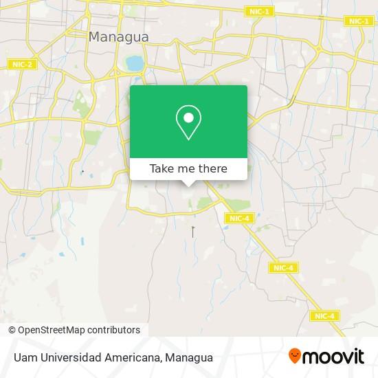 Uam Universidad Americana map