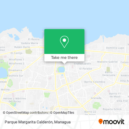 Parque Margarita Calderón map