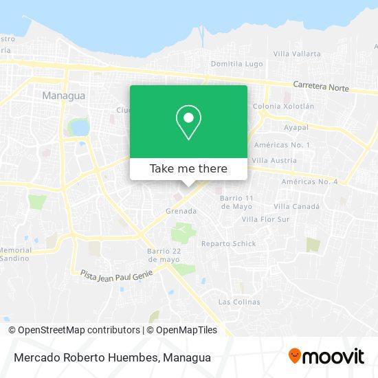 Mercado Roberto Huembes map