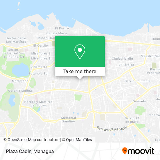 Plaza Cadin map