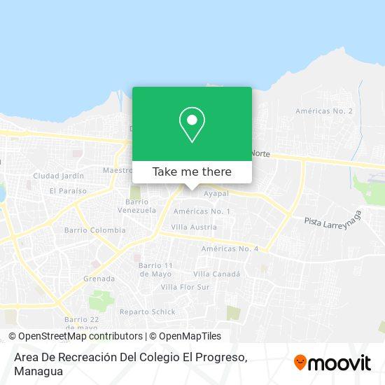 Area De Recreación Del Colegio El Progreso map