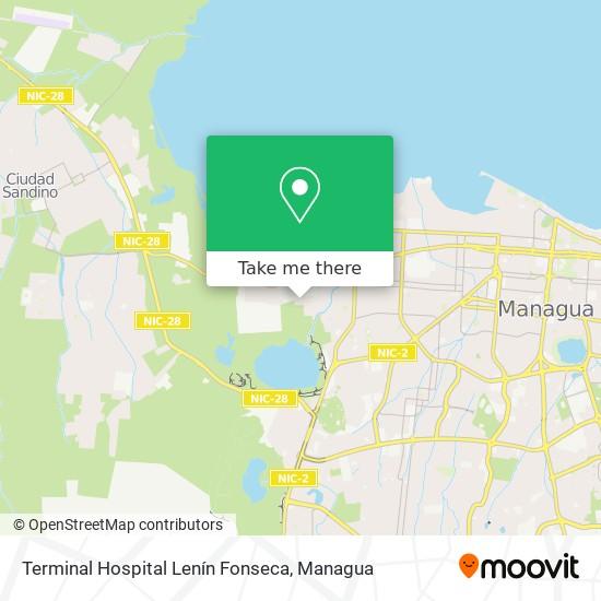 Terminal Hospital Lenín Fonseca map