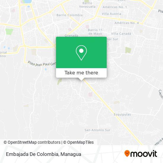 Embajada De Colombia map