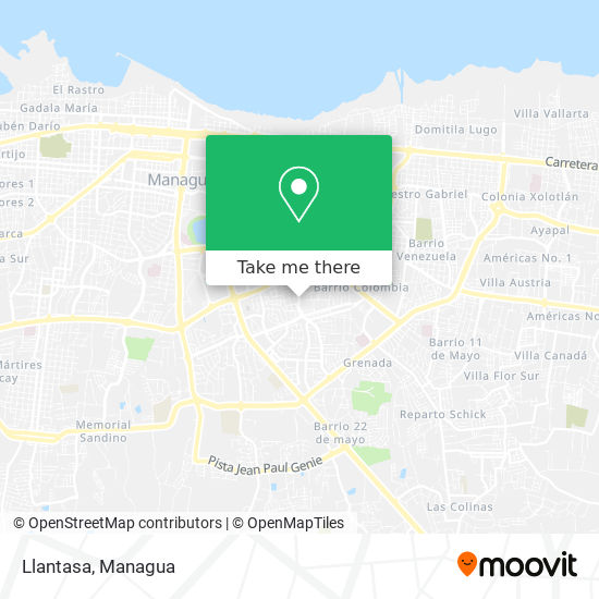 Llantasa map