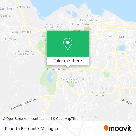Reparto Belmonte map