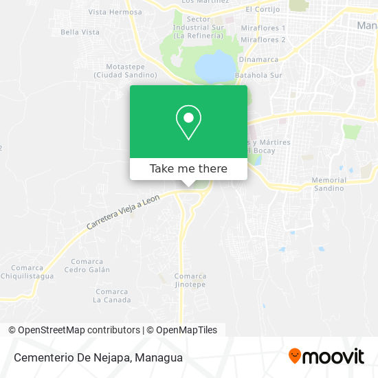 Cementerio De Nejapa map