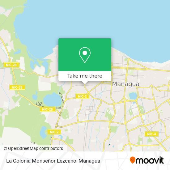 La Colonia Monseñor Lezcano map