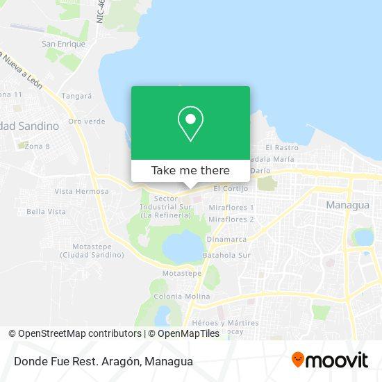 Restaurante Aragon map