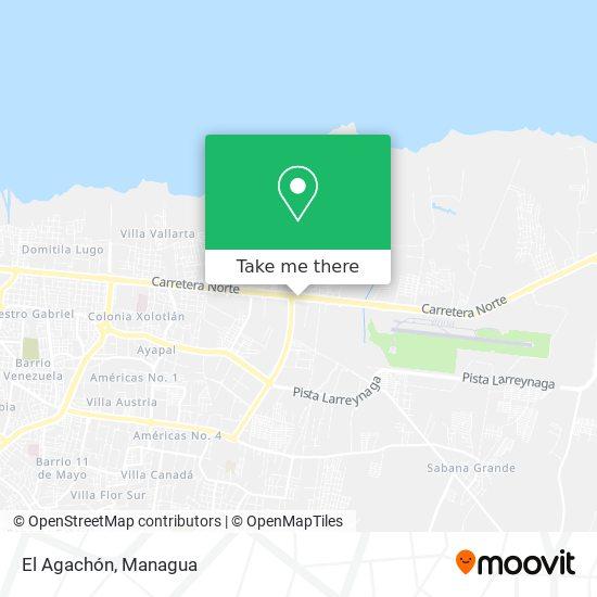El Agachón map