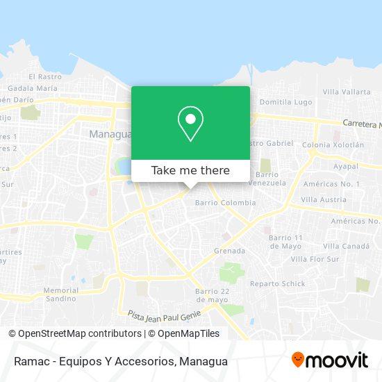 Ramac - Equipos Y Accesorios map