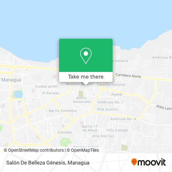 Salón De Belleza Genesis map