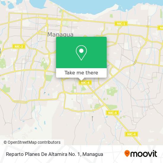 Reparto Planes De Altamira No. 1 map