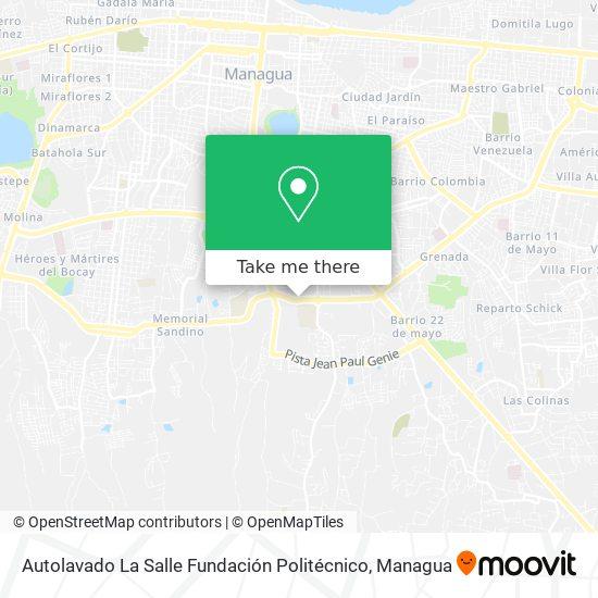 Autolavado La Salle Fundación Politécnico map