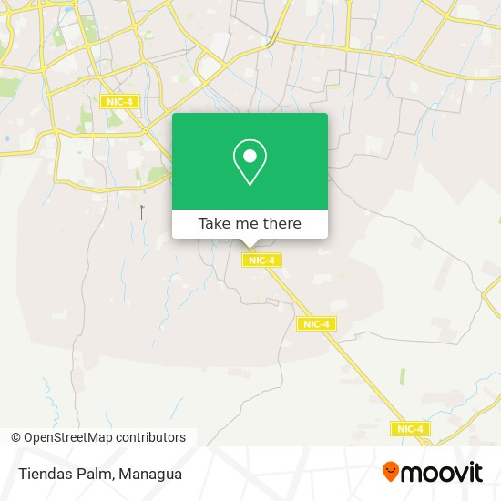 Tiendas Palm map