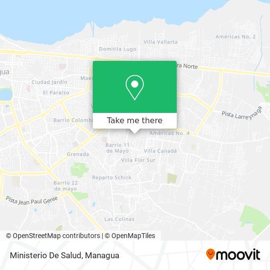 Ministerio De Salud map
