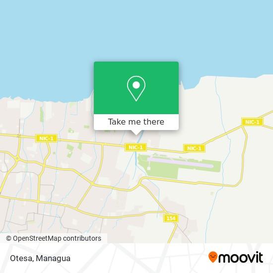 Otesa map