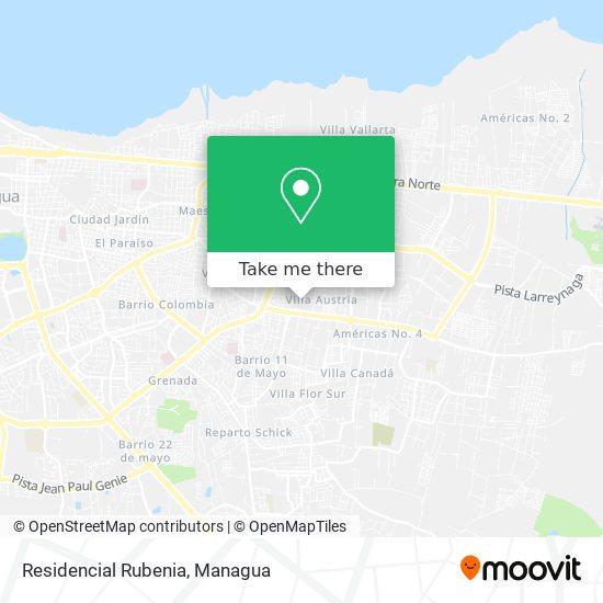 Residencial Rubenia map