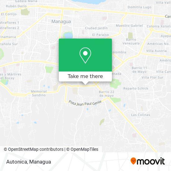 Autonica map