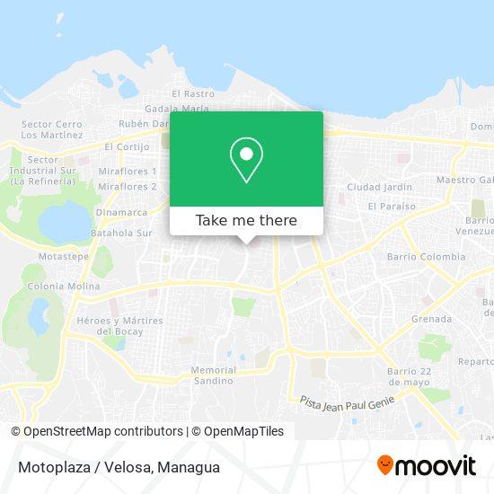 Motoplaza / Velosa map