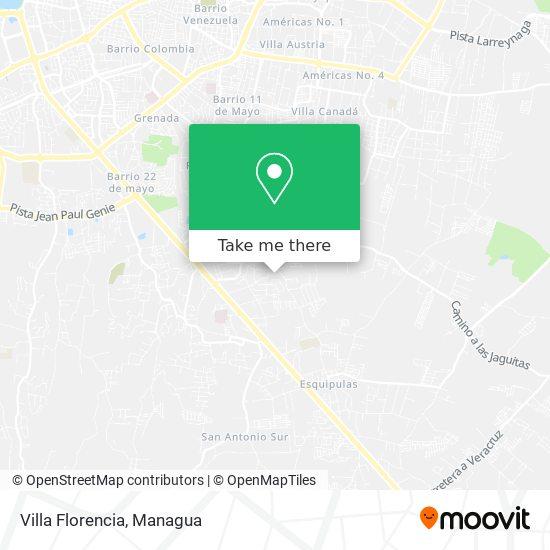 Villa Florencia map
