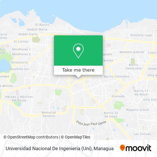 Universidad Nacional De Ingenieria map