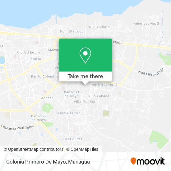 Colonia Primero De Mayo map
