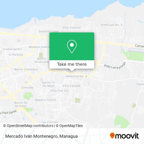Mercado Iván Montenegro map