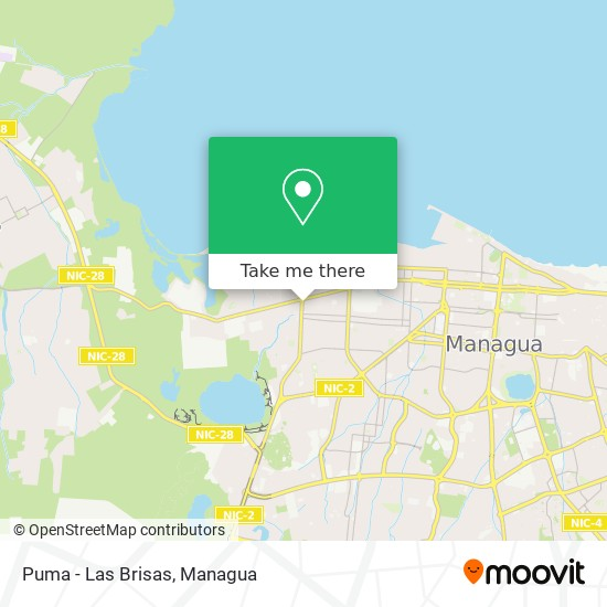 Puma - Las Brisas map