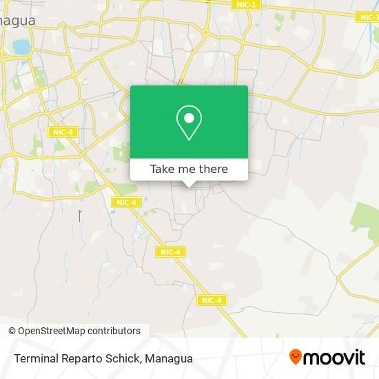 Terminal Reparto Schick map