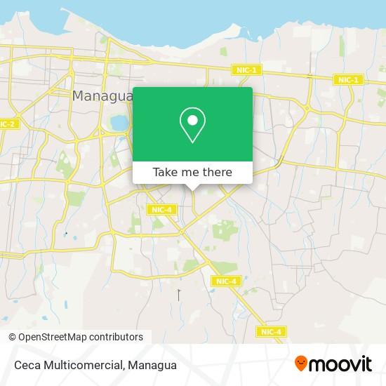 Ceca Multicomercial map