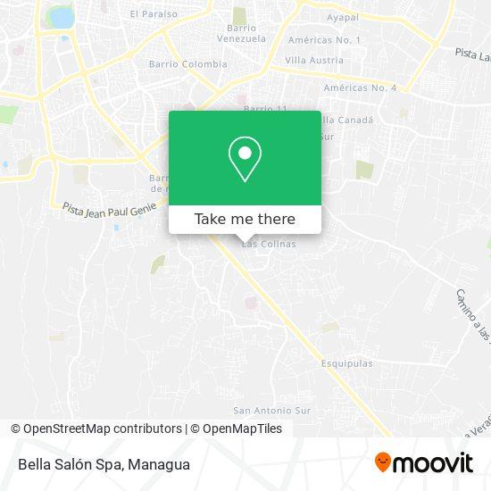 Bella Salon Spa map