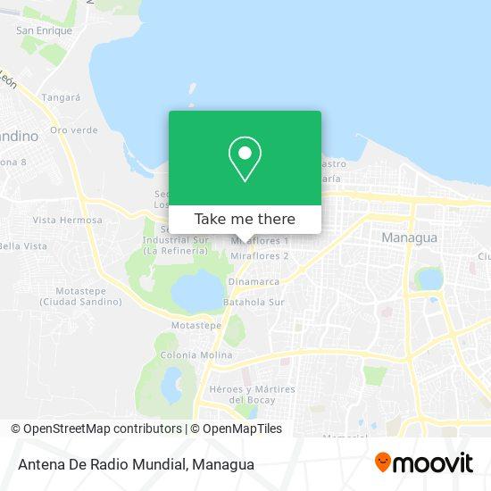 Antena De Radio Mundial map