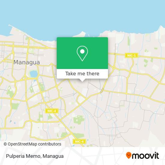 Pulperia Memo map