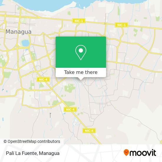 Palí La Fuente map