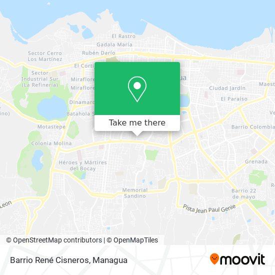 Barrio René Cisneros map