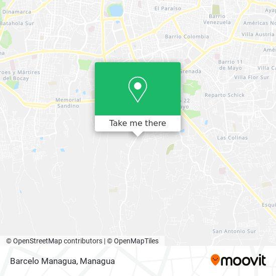 Barcelo Managua map