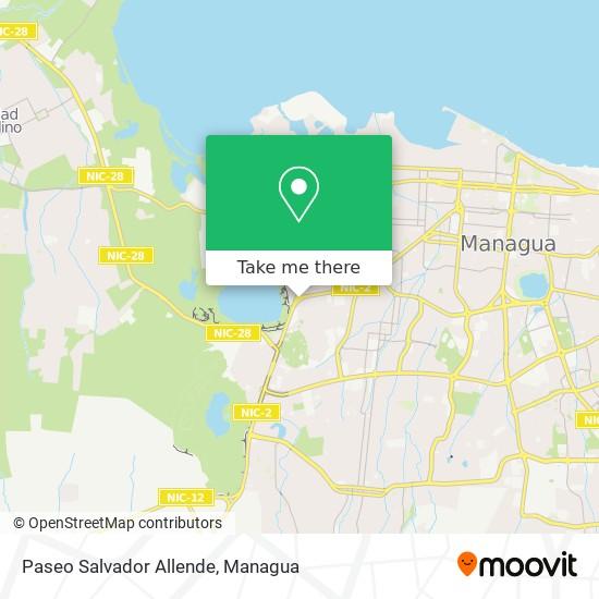 Paseo Salvador Allende map