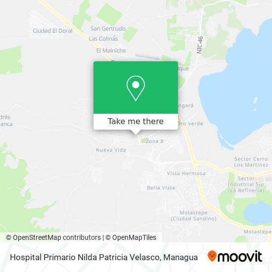 Hospital Ciudad Sandino map