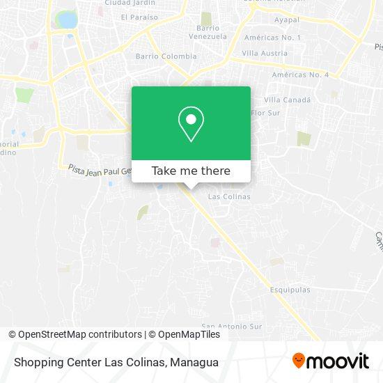 Shopping Center Las Colinas map