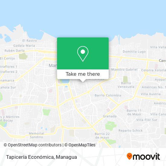 Tapicería Económica map