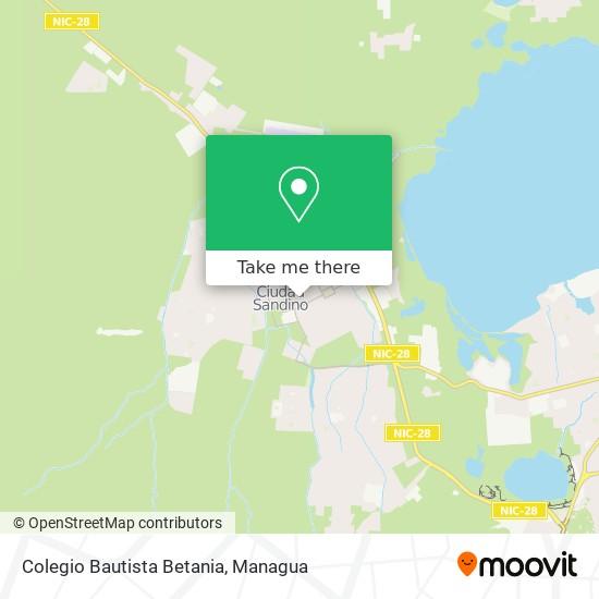Colegio Bautista Betania map